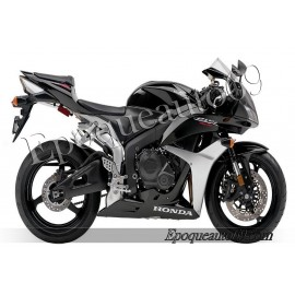 Autocollants stickers Honda CBR 600RR 2007 - version noir / argent