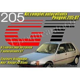 AUTOCOLLANTS COMPLET PEUGEOT 205 GT