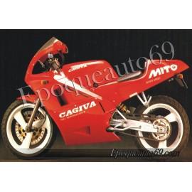 Autocollants stickers cagiva MITO année 1991