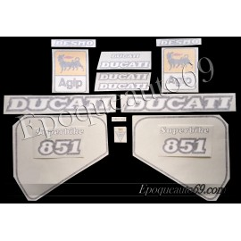 Autocollants stickers 851 année 1989 superbike
