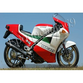 Autocollants stickers Ducati 851 superbike 1990 strada tricolore NCR