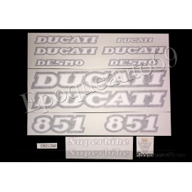 Autocollants - Stickers Ducati 851 superbike