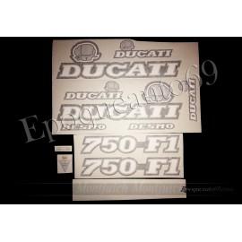 Autocollants stickers Ducati 750 F1