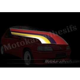 Autocollant capot Peugeot 106 Rallye phase 1