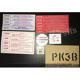Autocollants stickers moteur Peugeot 205 GTI 1.9