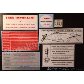 Autocollants stickers moteur Peugeot 104