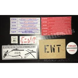 Autocollants stickers moteur Peugeot 205 GTI 1.6 105cv
