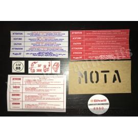 Autocollants stickers moteur Peugeot 205 1.6 GTI 115cv