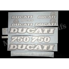 Autocollants Stickers Ducati 750 Santamonica