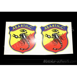 2 autocollants stickers ABARTH