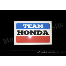 Autocollant sticker Honda Team