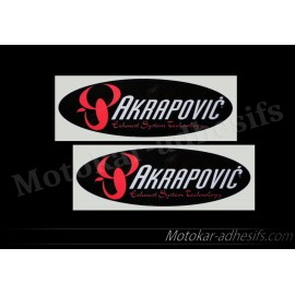 2 x Autocollants - stickers AKRAPOVIC