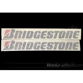 2 autocollants stickers BRIDGESTONE