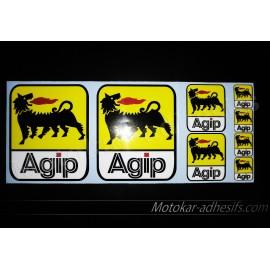 8 Autocollants stickers AGIP Moto Ducati