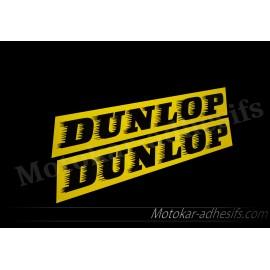 2 Autocollants stickers DUNLOP
