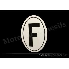 Autocollant sticker F