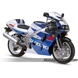 Autocollants - stickers Suzuki GSX-R 600 1998 version bleu/blanc