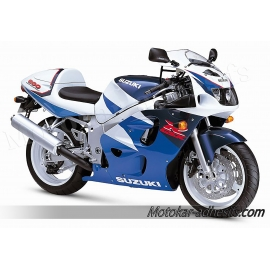 Autocollants - stickers Suzuki GSX-R 600 1997 version bleu/blanc