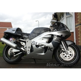 Autocollants - stickers Suzuki GSX-R 600 1998 version Gris