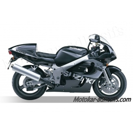 Autocollants - stickers Suzuki GSX-R 600 1999 version Noir/Gris