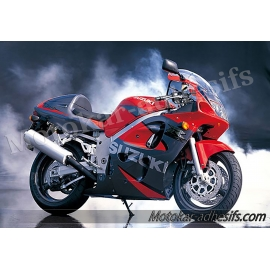 Autocollants - stickers Suzuki GSX-R 600 2000 version Rouge gris