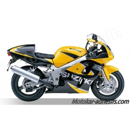 Autocollants - stickers Suzuki GSX-R 600 2000 version Jaune noir