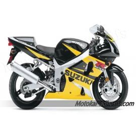 Autocollants - stickers Suzuki GSX-R 600 de 2002 version noir, jaune ,argent