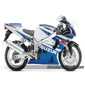 Autocollants - stickers Suzuki GSX-R 600 2002 Version blanche/bleu