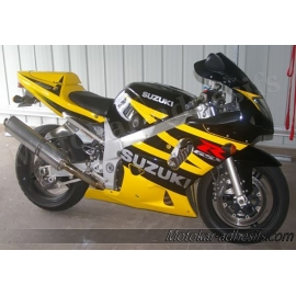 Autocollants - stickers Suzuki GSX-R 600 2003 version jaune/noir