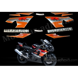 Autocollants - stickers Suzuki GSX-R 600 2004 version noir /orange