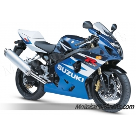 Autocollants - stickers Suzuki GSX-R 600 2004 version blanc/bleu