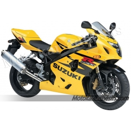 Autocollants - stickers Suzuki GSX-R 600 2004 version jaune /noir