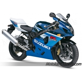 Autocollants - stickers Suzuki GSX-R 600 2005 version Bleu/blanc