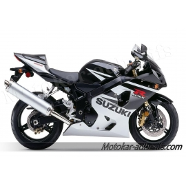 Autocollants - stickers Suzuki GSX-R 600 2005 version argent /noir
