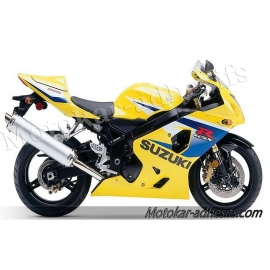 Autocollants - stickers Suzuki GSX-R 600 2005 version jaune/bleu