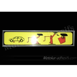 Autocollant sticker Cric peugeot 205