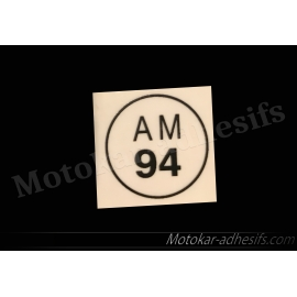 Autocollants stickers AM94