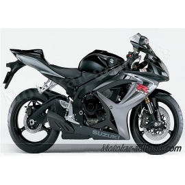 Autocollants - stickers Suzuki GSX-R 600 2006 version Noir/Grise