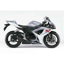 Autocollants - stickers Suzuki GSX-R 600 2006 version Blanc/argent