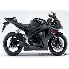 Autocollants - stickers Suzuki GSX-R 600 2007 version noir