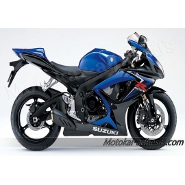Autocollants - stickers Suzuki GSX-R 600 2007 version bleu/noir
