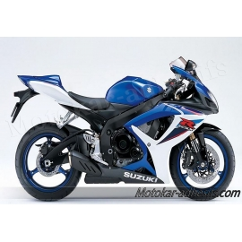 Autocollants - stickers Suzuki GSX-R 600 2007 version Blanc/bleu