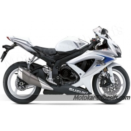 Autocollants - stickers Suzuki GSX-R 600 2008 version Blanc/argent