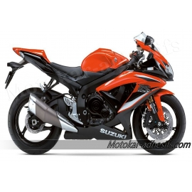 Autocollants - stickers Suzuki GSX-R 600 2009 version orange/noir