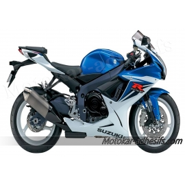 Autocollants - stickers Suzuki GSX-R 600 2012 version Blanc/bleu