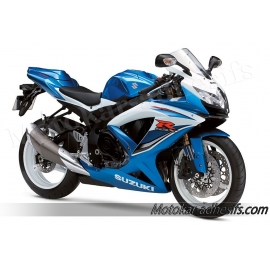 Autocollants - stickers Suzuki GSX-R 600 2009 version Blanc/bleu