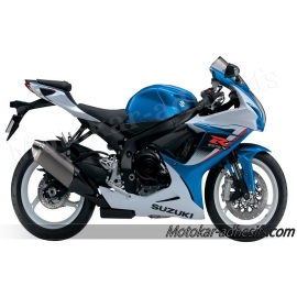 Autocollants - stickers Suzuki GSX-R 600 2013 version Blanc/bleu