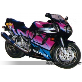 Autocollants - stickers Suzuki GSX-R 750 année 1993 version noir/rose