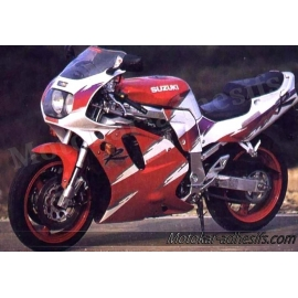 Autocollants - stickers Suzuki GSX-R 750 année 1993 version rouge/blanc