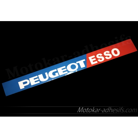 Autocollant Pare soleil Peugeot esso